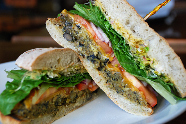 food bloggers   veggie burger